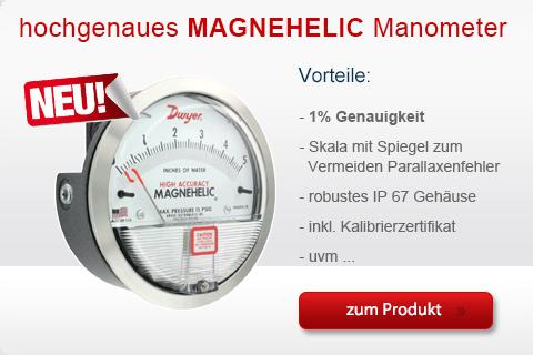 Produkte: hochgenaues Differenzdruckmanometer Typ Magnehelic Serie 2000-HA